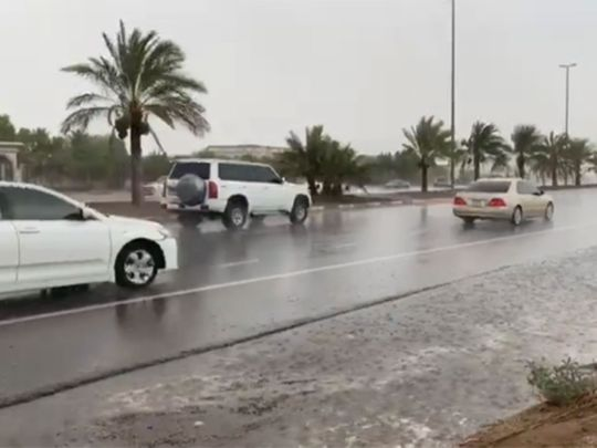 watch:-rain,-cloudy-weather,-cloud-seeding-in-parts-of-abu-dhabi-and-al-ain,-highest-temperature-in-the-uae-recorded-at-48.3°c-in-al-dhafrah